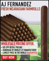 AJ Fernandez Fresh Nicaraguan Farmrolls (7x52 / Pack 25) + FREE SHIPPING ON YOUR ENTIRE ORDER!