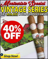Montecristo White Vintage Connecticut Double Corona (6.2x50 / 10 Pack) + 40% OFF SUPERDEAL!