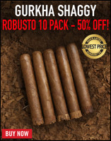 Gurkha Vintage Shaggy Robusto (5x52 / 10 Pack) + 50% OFF! + FREE SHIPPING ON YOUR ENTIRE ORDER!