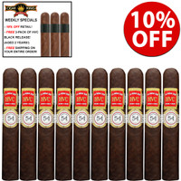 HVC La Rosa 520 Magicos Maduros (5.5x54 / 10 PACK SPECIAL) + 10% OFF + 3 FREE HVC BLACK RELEASE CIGARS ($27 VALUE) + FREE SHIPPING ON YOUR ENTIRE ORDER!