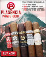 Plasencia Bestseller Private Flight (5 PACK SPECIAL) + 15% OFF RETAIL + FREE DOUBLE BLADE CUTTER + 2 FREE PLASENCIA VIDA DEL FUEGO CIGARS ($20 VALUE) + FREE SHIPPING ON YOUR ENTIRE ORDER!