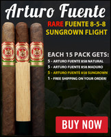 Arturo Fuente Rare 858 Sungrown Special Flight (6x47 / 15 CIGAR SPECIAL) + FREE SHIPPING ON YOUR ENTIRE ORDER!