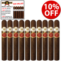Casa Fernandez & Warped Cigars Guardian Of The Farm Night Watch Rambo (4.5x48 / 10 PACK SPECIAL) + 10% OFF RETAIL + FREE 5-PACK OF CASA FERNANDEZ AGANORSA MADE SHORTY LIGA-1 ($35 VALUE) + FREE SHIPPING ON YOUR ENTIRE ORDER!