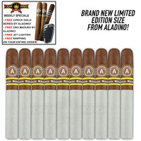 Aladino Corojo Reserva No. 4 (5x44 / 10 PACK SPECIAL) + FREE 2 Pack CK Aladino Gold Series Toro + FREE CK Oro By Aladino Maduro Toro + FREE Butane Jet Lighter + FREE SHIPPING ON YOUR ENTIRE ORDER!