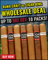 RoMA Craft Intemperance EC XVIII Virtue vs Cigar King Aganorsa Leaf  (4.5x52 / 10 Pack) + 50% OFF + FREE SHIPPING ON YOUR ENTIRE ORDER!