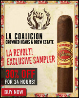 La Coalicion Crowned Heads & Drew Estate LA REVOLT! Exclusive Flight (10 PACK SPECIAL) + 30% OFF RETAIL! + FREE Boveda Fresh Pack + FREE SHIPPING ON YOUR ENTIRE ORDER!