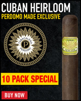 Cuban Heirloom Maduro Robusto (4.88x50 / 10 PACK SPECIAL) + 33% OFF RETAIL! + FREE SHIPPING ON YOUR ENTIRE ORDER!