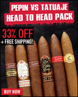Pepin Garcia vs Tatuaje Special Flight (12 PACK SPECIAL) + 33% OFF RETAIL! + FREE SHIPPING ON YOUR ENTIRE ORDER!