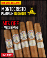 Montecristo Platinum Toro (6x50 / 20 PACK SPECIAL) + 60% OFF RETAIL + FREE SHIPPING ON YOUR ENTIRE ORDER!
