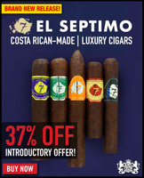 El Septimo Geneva Costa Rican Brand Sampler (5 PACK SPECIAL) + 37% OFF RETAIL! + FREE 2-MONTH HUMIDIFICATION FRESH BAG! +  FREE SHIPPING ON YOUR ENTIRE ORDER!