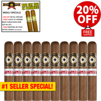 Perdomo Small Batch Sun Grown Rothschild (4.5x50 / 10 PACK SPECIAL) + 20% OFF RETAIL! + FREE 2-PACK CUBAN HEIRLOOM ($20 VALUE) + FREE SHIPPING ON YOUR ENTIRE ORDER!