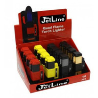 JetLine New York Quad-Flame Lighter Black