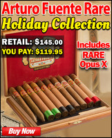 Arturo Fuente Xtremely Rare Opus X Holiday Cigar Collection