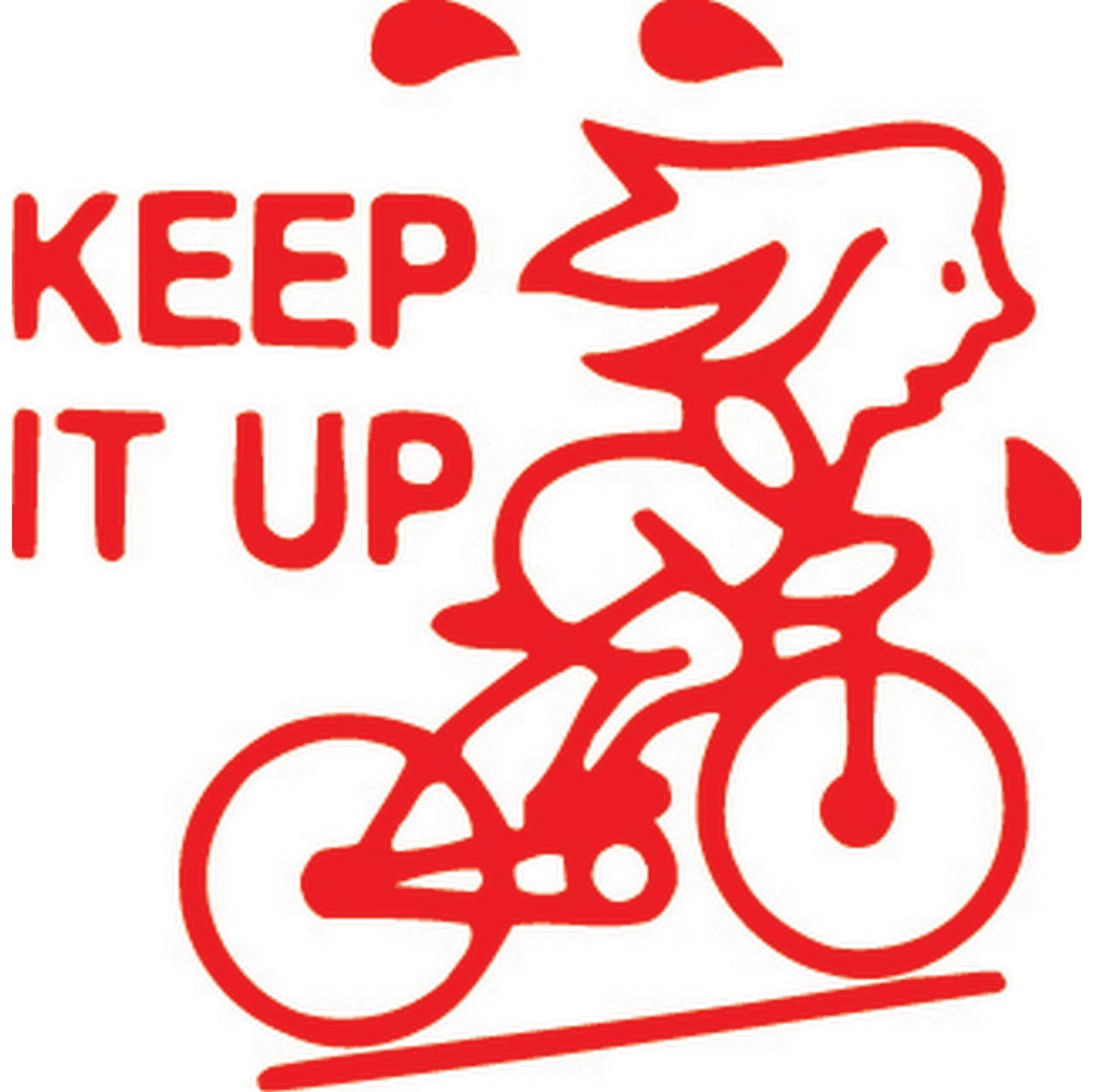 Xstamper 11423 Bike Keep It Up Red
