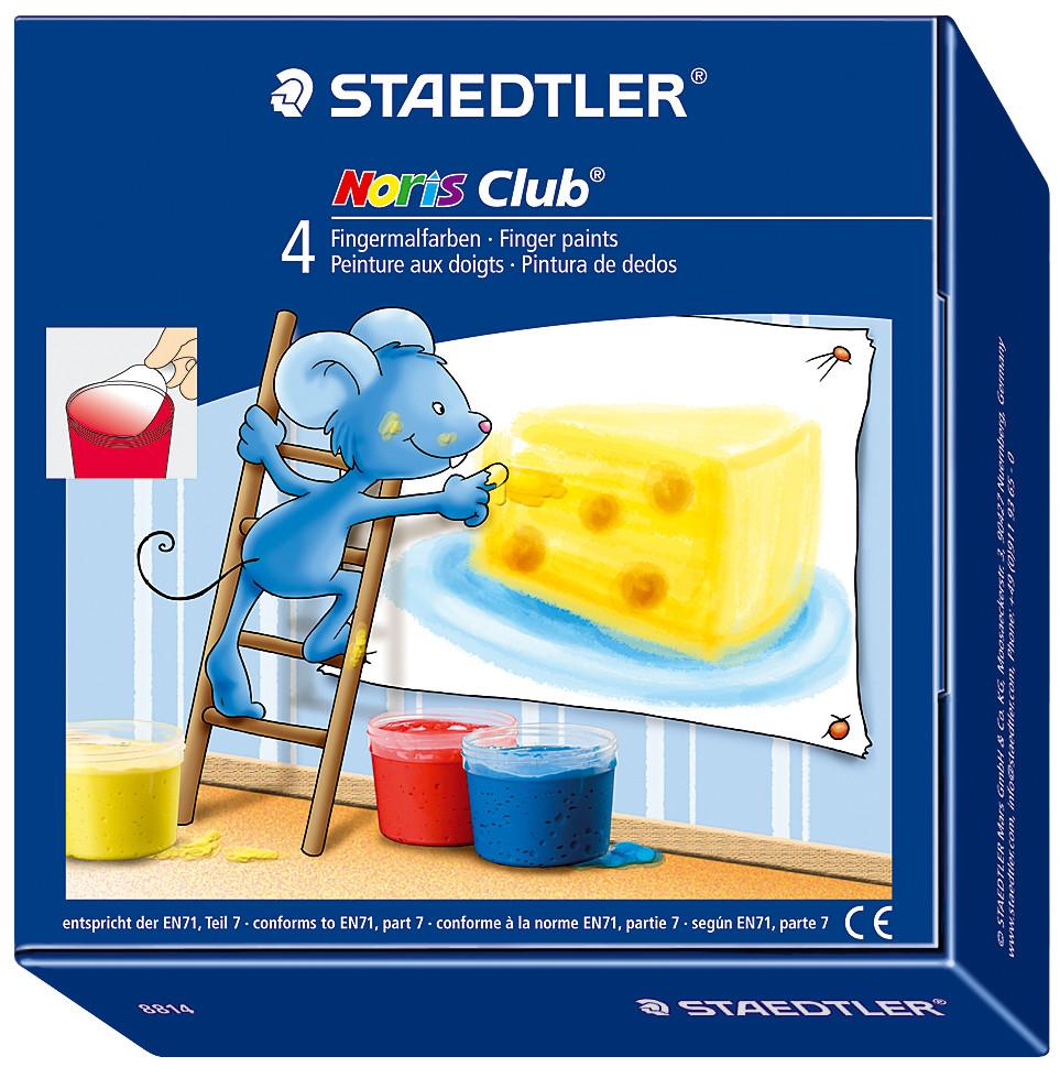 Staedtler® Noris Club® Finger Paints - Assorted Colours