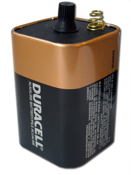 Duracell Coppertop 6 Volt Spring Terminal Battery (Pack of 2)