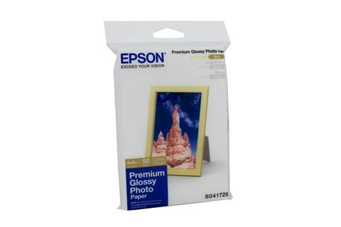 Epson S041867 Prem Gloss Pap 50 Sheets for Inkjet Printers