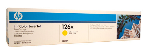 HP #126A Yellow Toner CE312A 1000 Pages Yellow