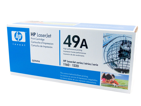 HP #49A Black Toner Q5949A 2500 Pages Black