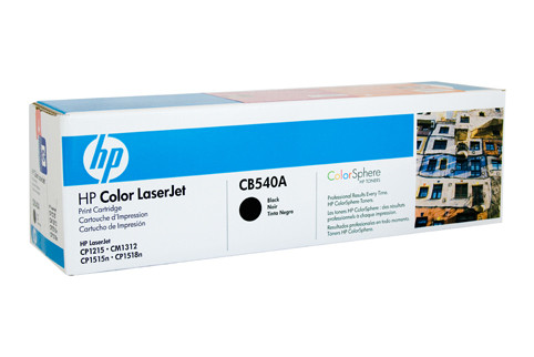HP #125A Black Toner CB540A 2200 Pages Black