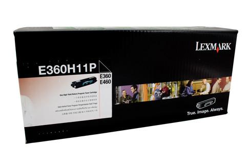 Lexmark E360H11P Prebate Toner 9000 Pages Black