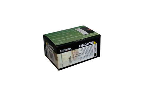 Lexmark C540A1YG Yellow Toner 1000 Pages Yellow