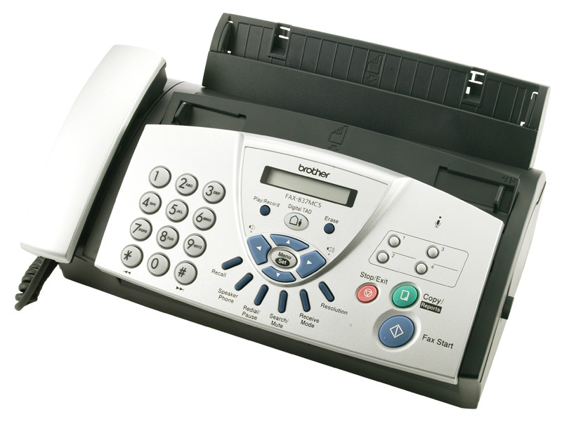 Brother FAX-837MCS Thermal Transfer Fax W/ Handset & Answering Machine