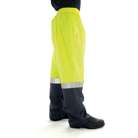 HiVis Rain Gear, Fluoro Yellow/Navy Pants (3880)