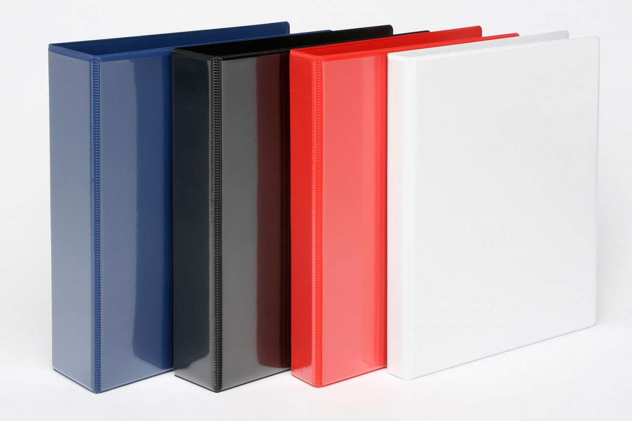 Colonial Insert Binder - A4 2D/3D/4D Ring - Assorted Colours