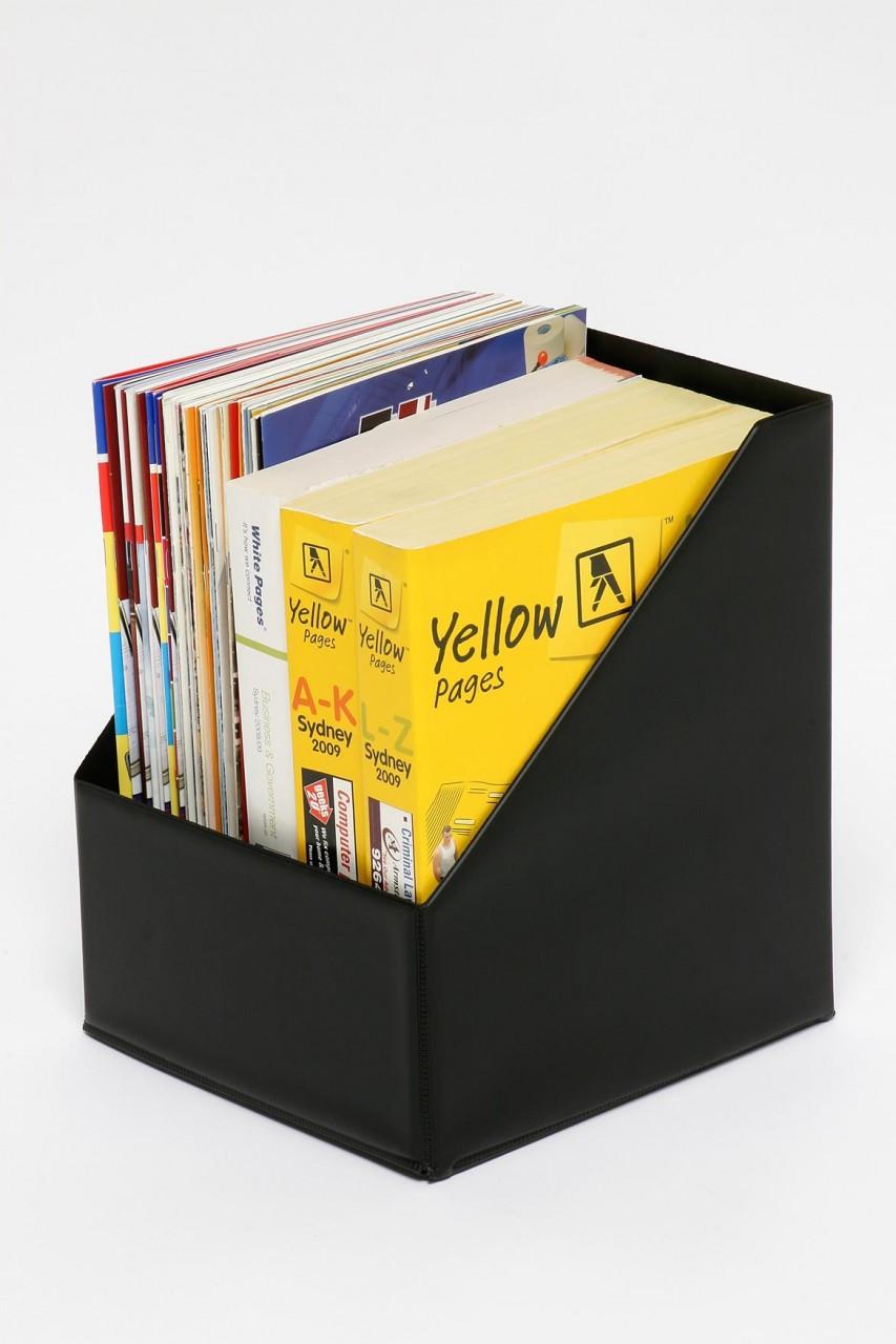 Telephone Book/Magazine Holder PVC Black