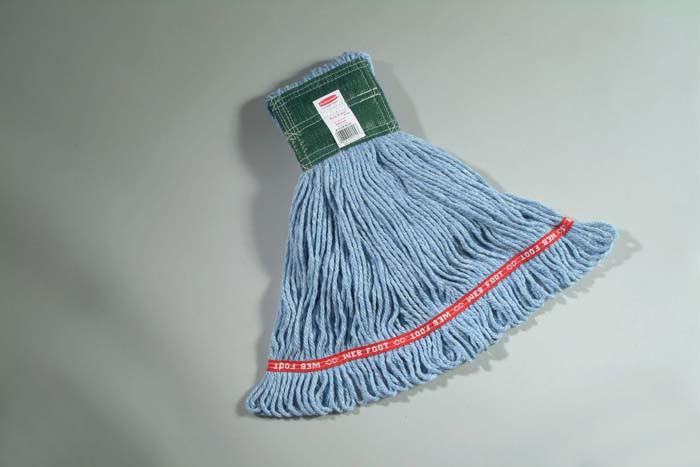 Web Foot Wet Mop, 12.7cm Headband, Medium - Blue | 6 Units
