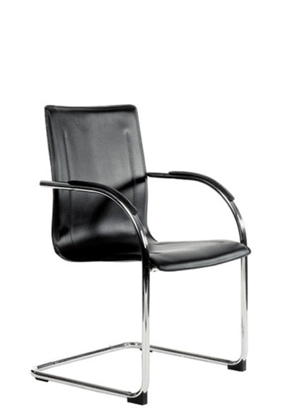 YS12 Gamma Client Chairs - Black (PU) | 4 Units