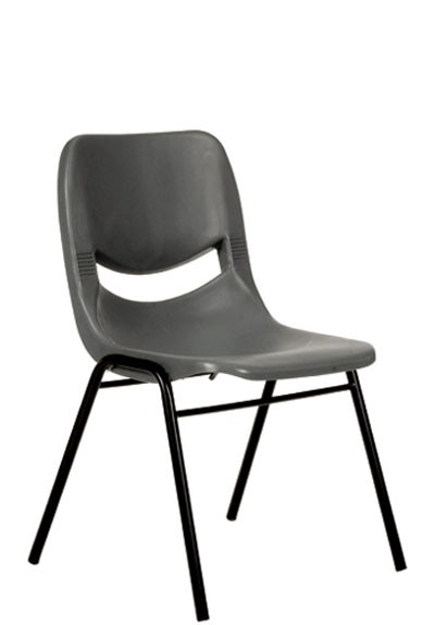 YS32 Plastic Stacker Chairs - Grey