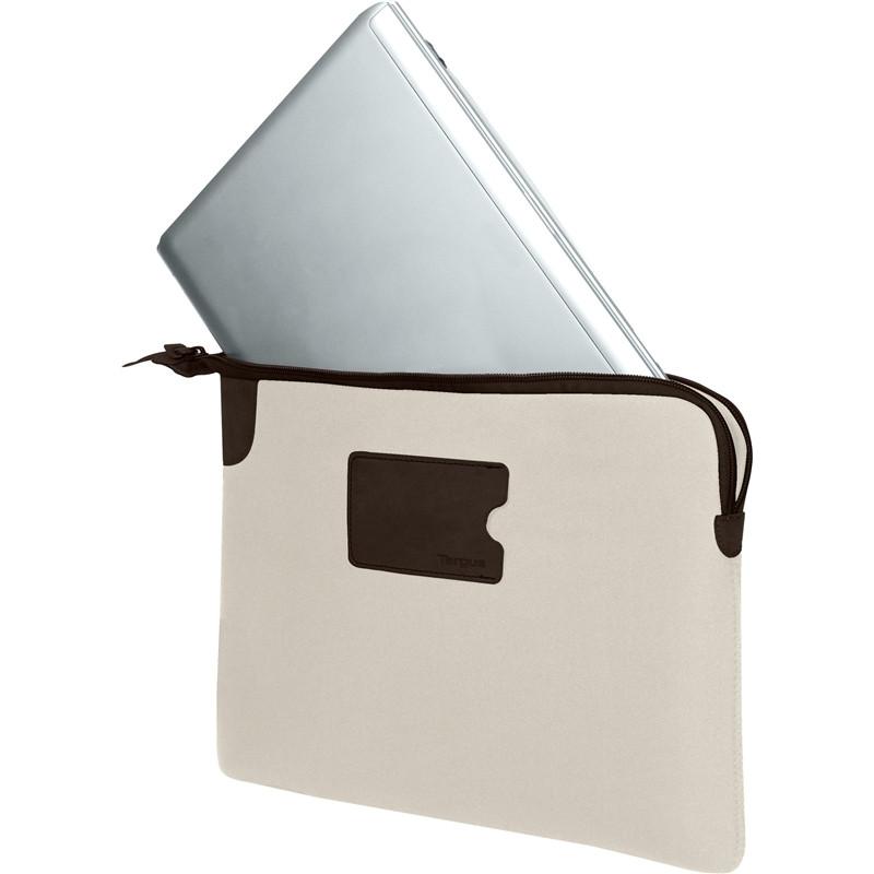 """Targus 13"""" Banker Sleeve for MacBook Pro® and Ultrabooks (Bone White)"""
