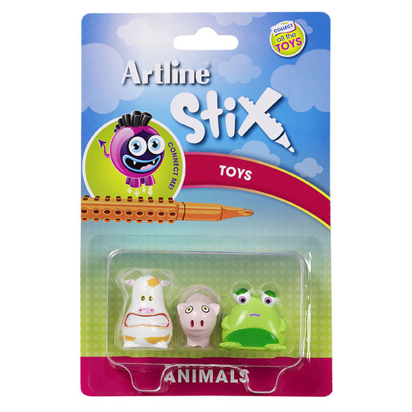 ARTLINE STIX TOYS 3PK ANIMALS