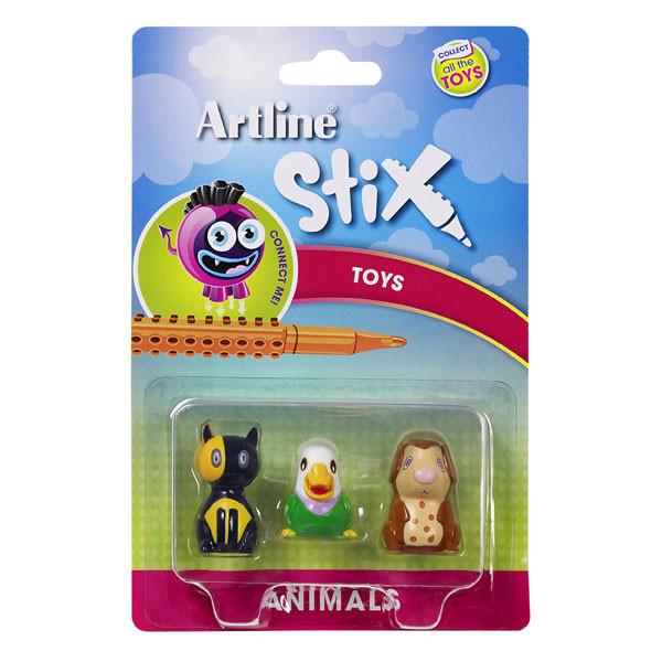 ARTLINE STIX TOYS 3PK ANIMALS 2