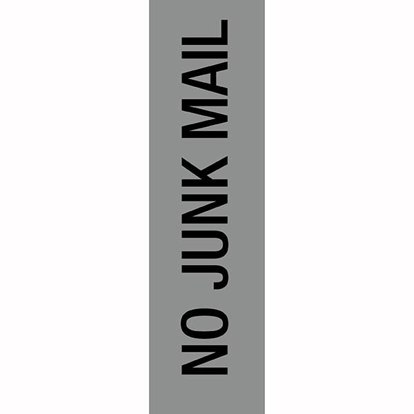 APLI NO JUNK MAIL SELF ADHESIVE SILVER SIGN PK 1