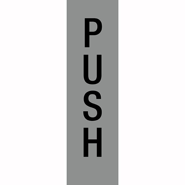 APLI PUSH SELF ADHESIVE SILVER SIGN PK 1