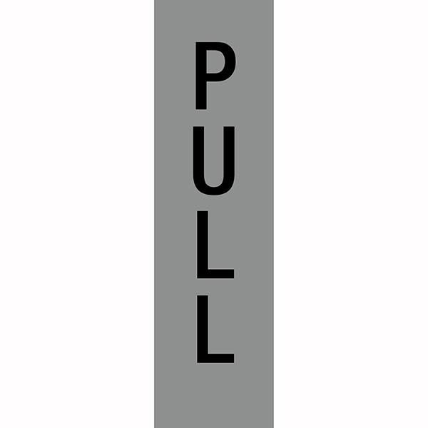 APLI PULL SELF ADHESIVE SILVER SIGN PK 1