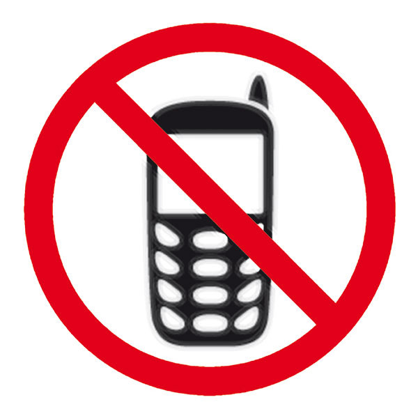 APLI NO MOBILE PHONE SELF ADHESIVE SIGN PK 1