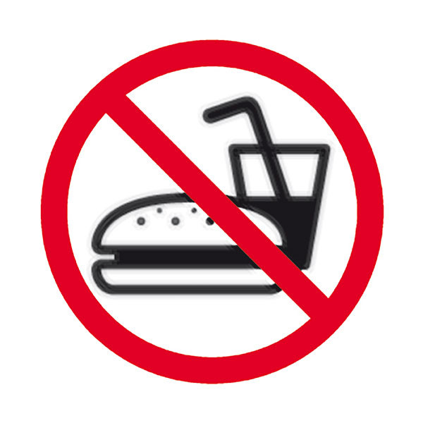 APLI NO EATING SELF ADHESIVE SIGN PK 1