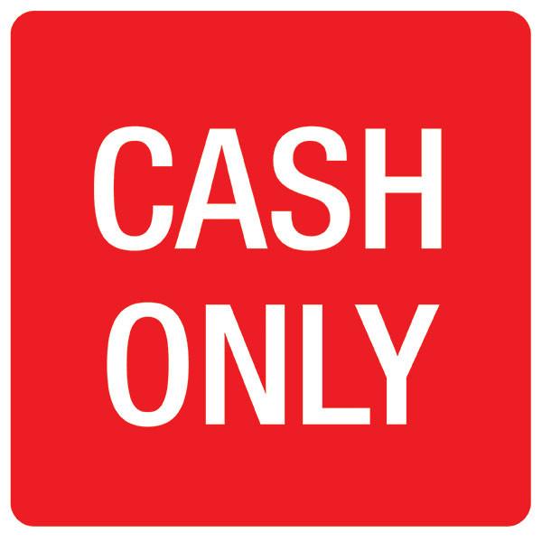 APLI CASH ONLY SELF ADHESIVE SIGN PK 1