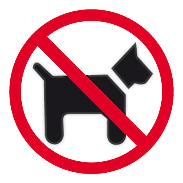 APLI DOGS FORBIDDEN SELF ADHESIVE SIGN PK 1