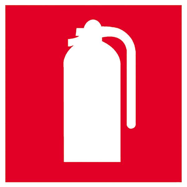 APLI FIRE EXTINGUISHER SELF ADHESIVE SIGN PK 1