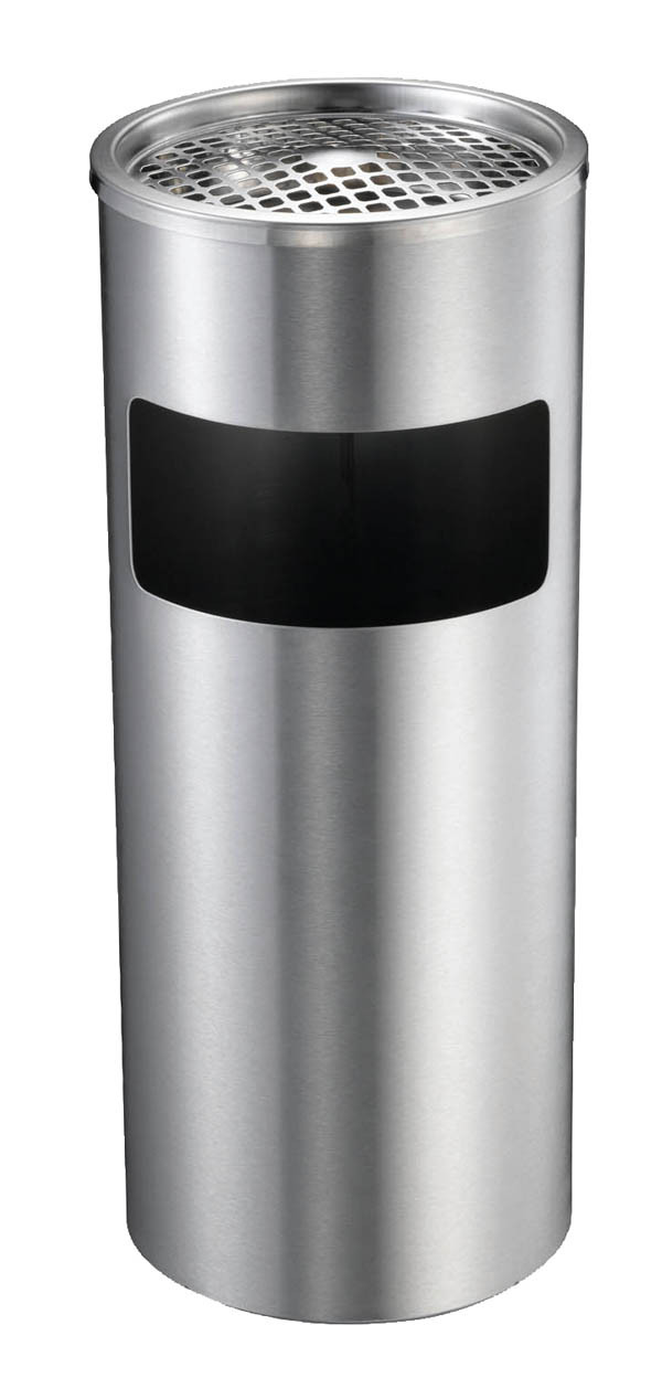 Compass Bin 761250, 10L Lobby with Ashtray Brushed Finish