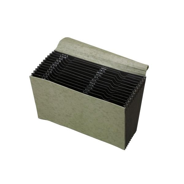 Marbig Expanding File Manilla 12 Pocket FC (By Carton - See Desc.)