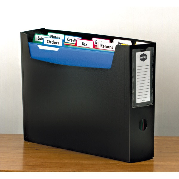 Marbig Portable Organiser File with Files and Tabs A4 (Single Unit)