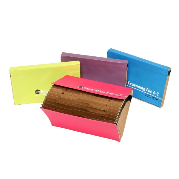 Marbig Expanding File Manilla Summer Colours Fc A-Z (By Carton)