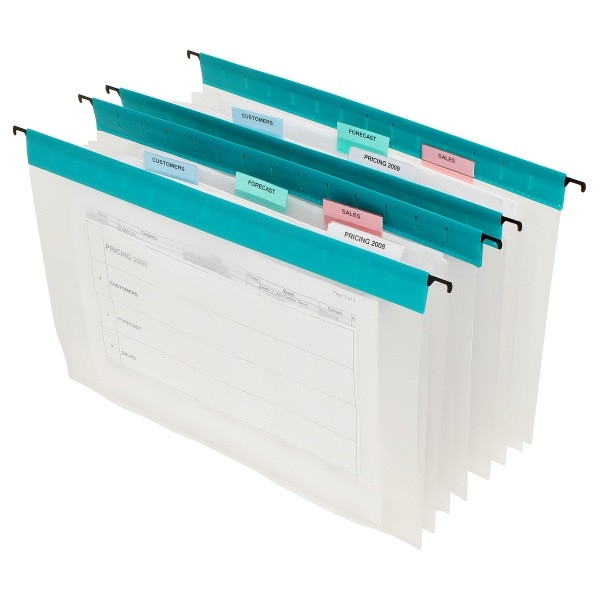 Marbig Expanding Files 3 Pocket w/ Tabs & Inserts (5 Pack of 5 Pieces)