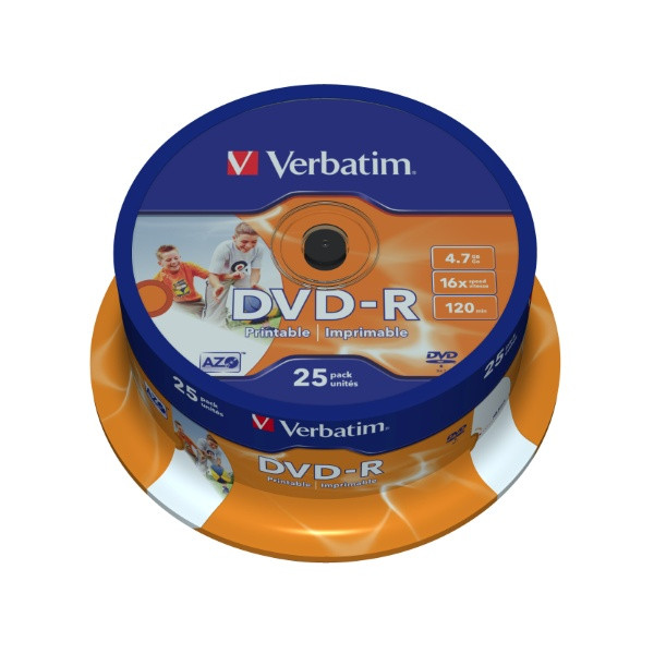 Verbatim DVD+R - 4.7GB Spindle 16x (4 Pack of 25 Pieces)